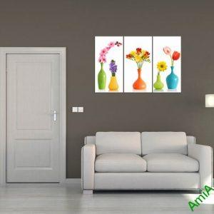 Mẫu tranh bình hoa treo trang trí phòng khách