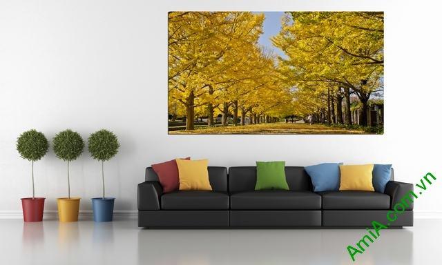 Tranh phong cảnh mùa thu có khổ kích cỡ lớn