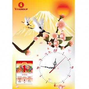 15.Lốc lịch dạng tranh đồng hồ