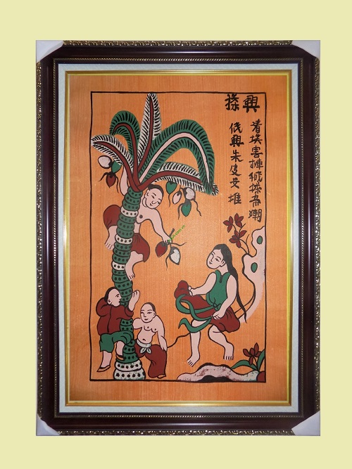 Tranh dân gian Đông Hồ hứng dừa