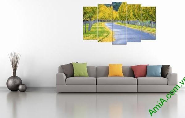 Hình ảnh bộ tranh phong cảnh treo phòng khách đẹp