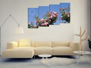 Tranh hoa hồng tỏa nắng thiết kế kiểu tranh ghép bộ