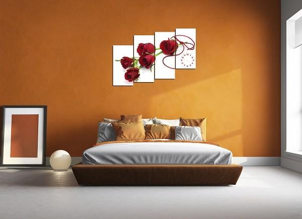 Tranh hoa hồng kiểu tranh ghép bộ nhiều tấm nghệ thuật