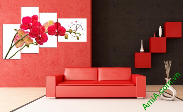 Hình ảnh mẫu tranh treo tường hoa phong lan