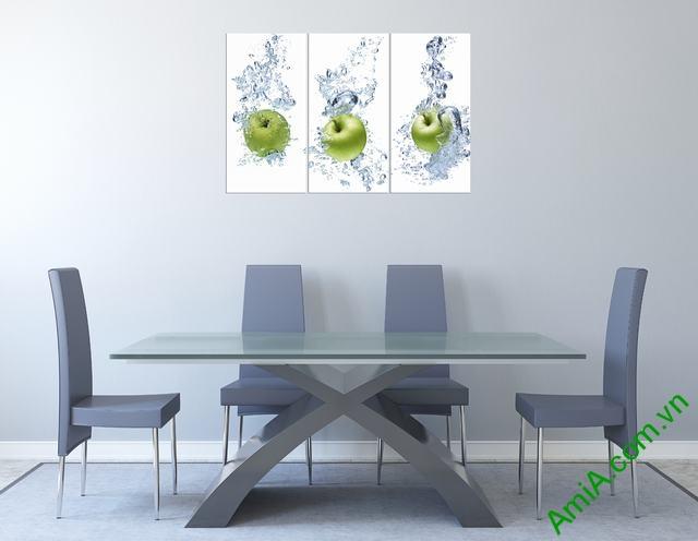 Mẫu tranh hoa quả đẹp treo phòng ăn