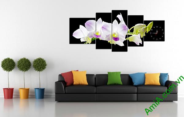 Hình ảnh mẫu tranh hoa phong lan đẹp