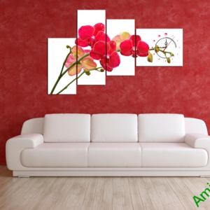 Mẫu tranh hoa phong lan treo tường phòng khách