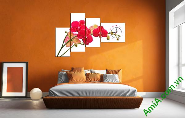 Mẫu tranh hoa phong lan đẹp treo tường phòng ngủ