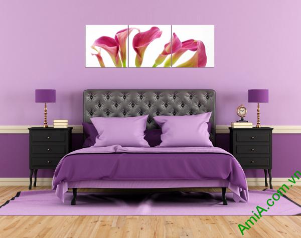 Mẫu tranh hoa zum đẹp treo phòng ngủ vợ chồng