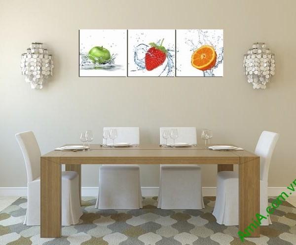 Mẫu tranh đẹp treo trang trí phòng ăn