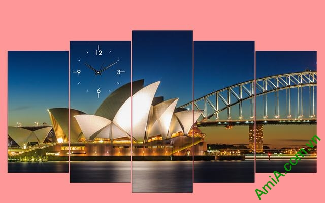 Tranh cầu vàng sydney Australia đẹp