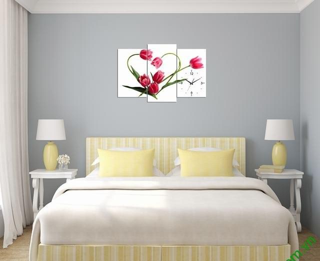 Tranh phòng ngủ vợ chồng đẹp hình trái tim