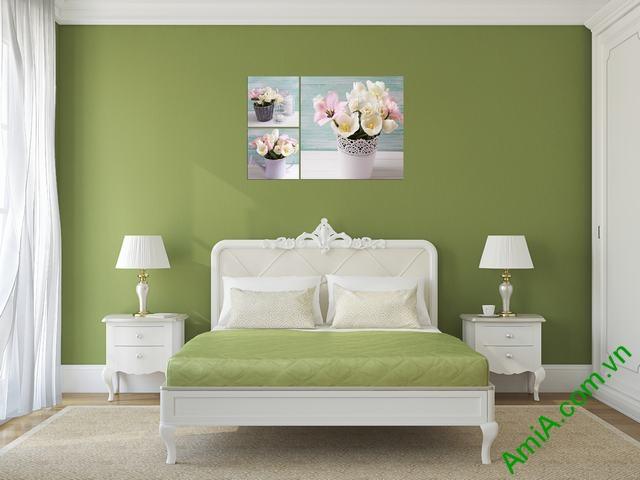 Tranh hoa đẹp treo phòng ngủ