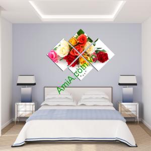 Tranh hoa hồng đẹp treo phòng ngủ