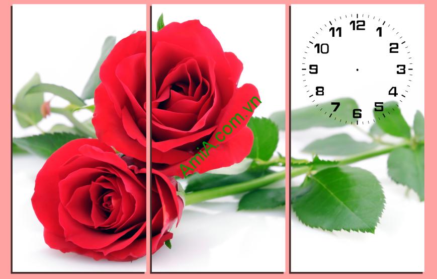 Tranh hoa hồng ghép bộ hiện đại