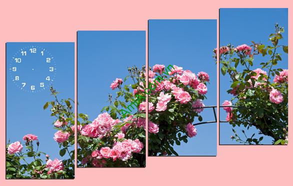 Tranh hoa hồng tỏa nắng ghép bộ