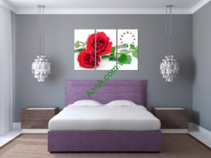 Tranh hoa hồng treo phòng ngủ