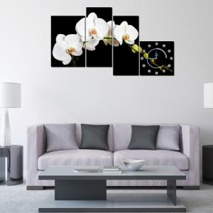Tranh hoa lan trắng đẹp