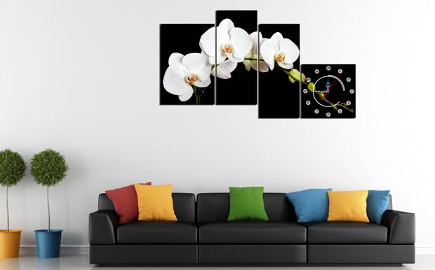 Hình ảnh mẫu tranh hoa lan trắng