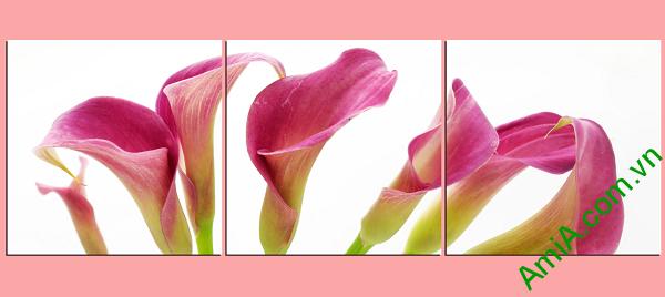 mẫu tranh hoa zum đẹp kiểu tranh ghép bộ