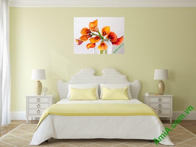 Tranh hoa zum đẹp treo phòng ngủ vợ chồng