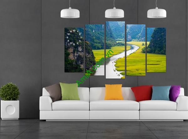 Hình ảnh tranh phong cảnh đẹp treo phòng khách