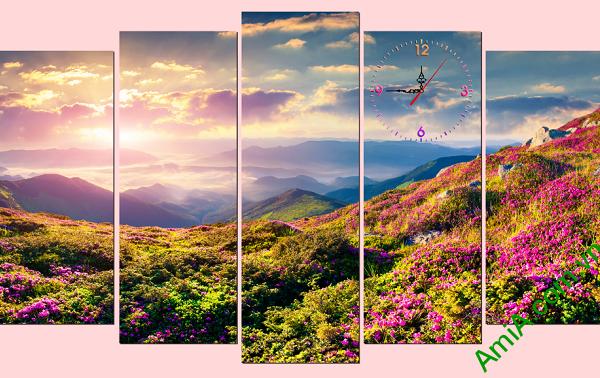 Tranh phong cảnh đổi hoa nắng bình minh