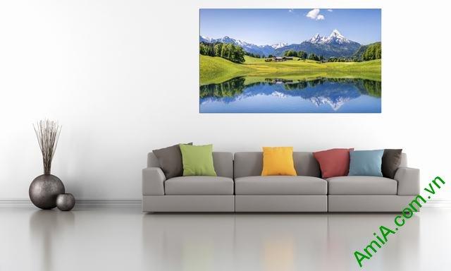 Tranh phong cảnh đẹp treo phòng khách