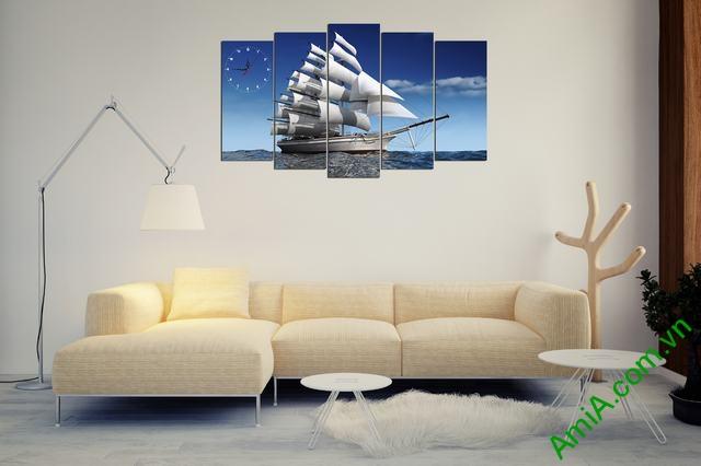 Hình ảnh mẫu tranh thuận buồm xuôi gió đẹp treo trang trí phòng khách