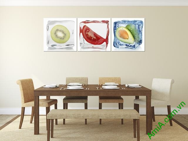 Mẫu tranh treo phòng ăn đẹp