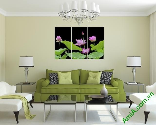 Hình ảnh tranh treo tường hoa sen đẹp