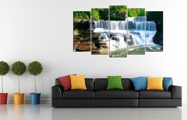 Tranh treo tường có phong cảnh thác nước