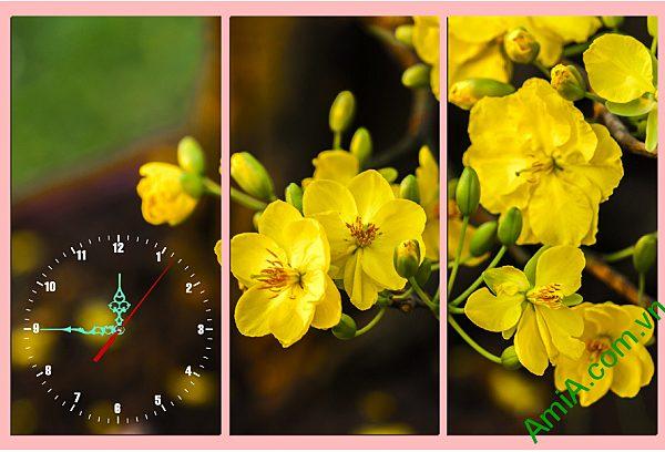 tranh hoa mai vang trang tri phong