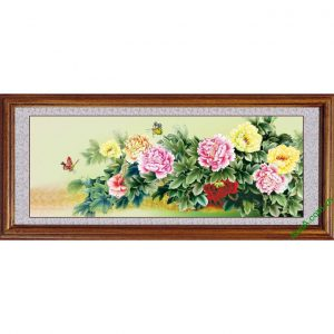 Mẫu tranh hoa mẫu đơn phong thủy và đẹp