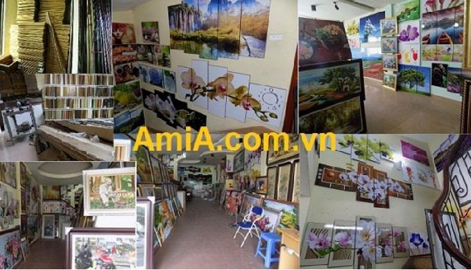 showroom tranh phong canh treo tuong dep