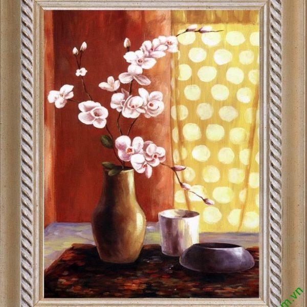 tranh hoa lan treo tuong dong tranh tinh vat kho nho