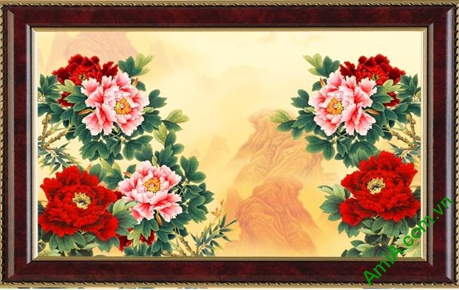 tranh hoa mau don 8 bong treo phong ngu vo chong