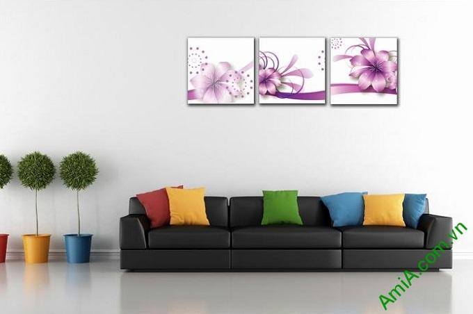 tranh hoa vector trang tri phong ngu ghep bo hien dai