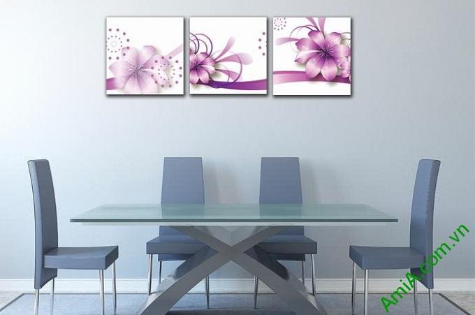 tranh hoa vector trang tri phong ngu dep