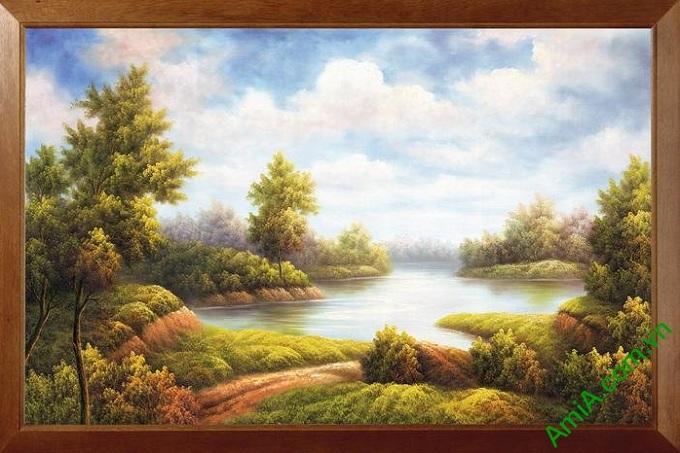 tranh phong canh treo tuong gia son dau dep