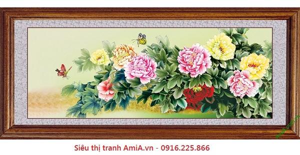 tranh treo tuong phong khach hien dai hoa mau don