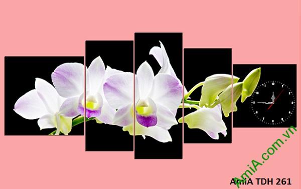 tranh treo tuong phong khach hien dai hoa phong lan
