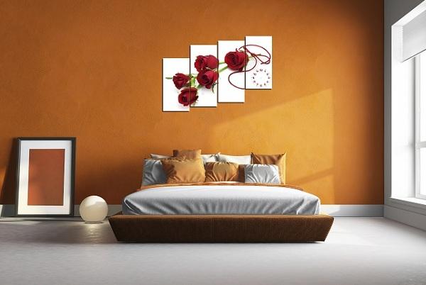 tranh treo tuong phong khach hien dai hoa hong tinh yeu