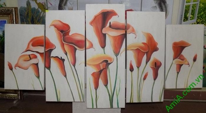 tranh hoa zum ghep bo dep