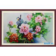 Tranh trang trí nhà hoa mẫu đơn ý nghĩa mà đẹp