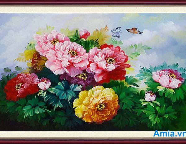 tranh treo tuong dep hoa mau don