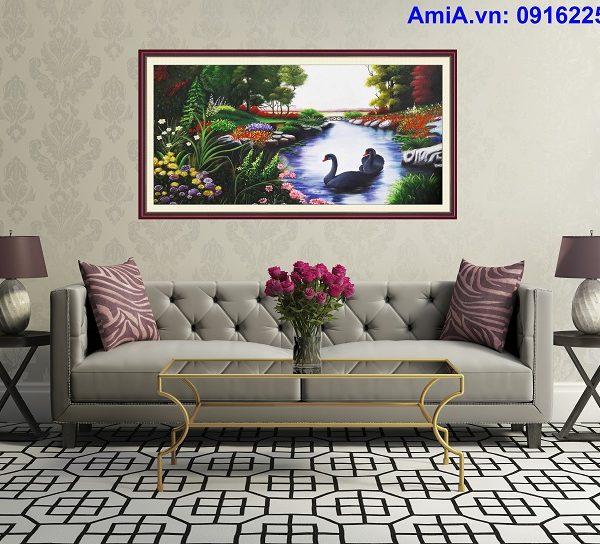 tranh son dau phong canh nuoc ngoai tsd172