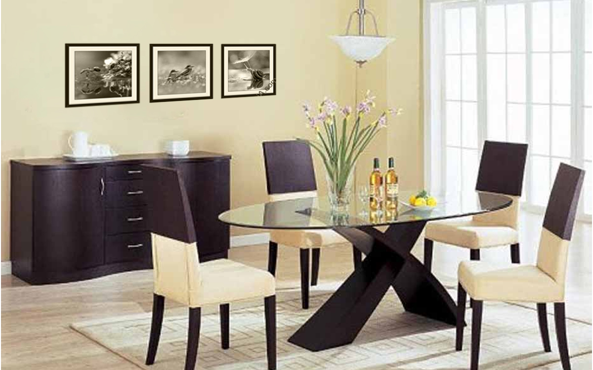 Tranh trang trí phòng khách kiêm phòng ăn