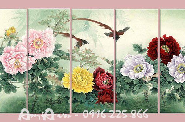 Hinh anh bo tranh hoa mau don 5 tam amia 1125