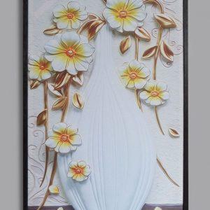 Hinh anh tranh binh hoa kho dung in vai canvas amia